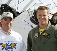 Viper West pilot Capt. Russ Piggott with Bob Matthews